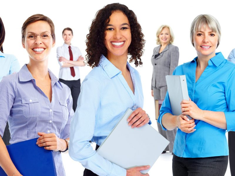 Diverse group of professional human resource managers, supervisors, business executives, and directors standing up and in professional business attire on Human Resource Translation Page Translation Solutions San Diego